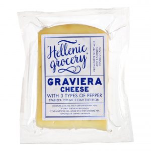 graviera gruyere cheese with three peppers