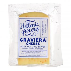 graviera gruyere cheese with hot chili pepper