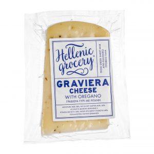 graviera gruyere cheese with oregano
