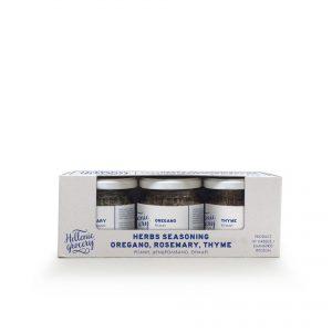 herbs seasoning oregano, rosemary, thyme set collection selection