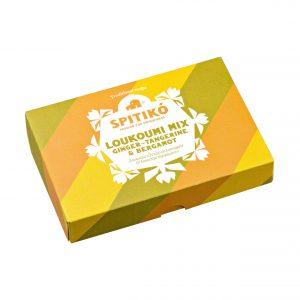 Loukoumi with ginger, tangerine and bergamot.