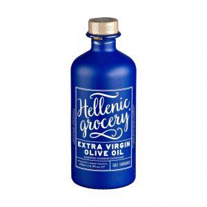 extra virgin olive oil blue bottle
