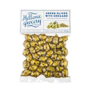 green olives in Vaccum oregano