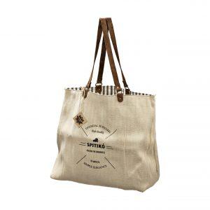 Handmade Linen Shopping Bag