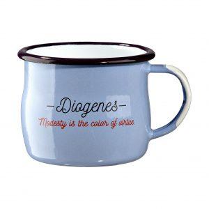 enamel mug Diogenes Hellenic Grocery