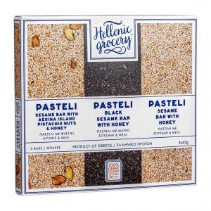pasteli collection set selection pistachio honey black sesame