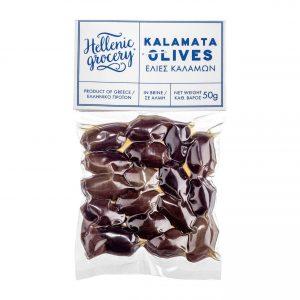 Kalamata olives in vacuum miniature