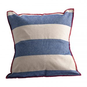pillow case striped blue white