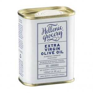 extra virgin olive oil white tin small