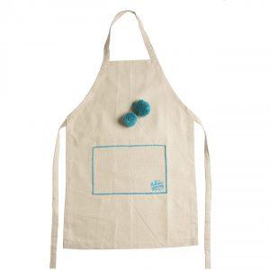 apron beige pon pon Hellenic Grocery
