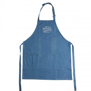 apron blue jean Hellenic Grocery