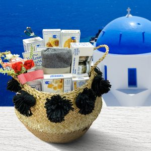 Easter Basket with Greek Products